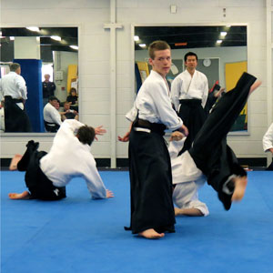 kids learning aikido
