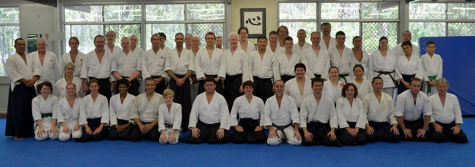 aikido instructors and students